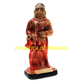 Imagem Exu Corcunda 35cm Tata Caveira Estatua 20cm Escultura