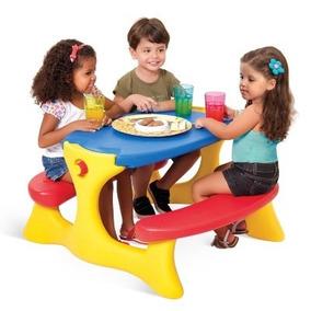 Mesa Infantil Plástico Desmontável Recreio Bandeirante 7153