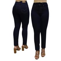 Calça Feminina Jeans Black Blue Linda E Confortável Até Nº56