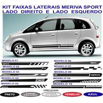 Acessorios Faixa Lateral Meriva Sport Gm Chevrolet Adesivo