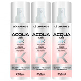 Spray Acqua Liss 3k Lé Charmes 3x250ml # Liso Absoluto