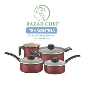 Tramontina - Batería Set Juego Teflon Turim - Bazar Chef