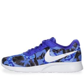 Tenis Nike Tanjun Print - 820201401 - Azul - Mujer