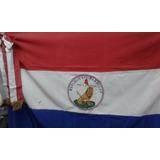 Bandera Ceremonial Bordada Paraguay Sin Moño