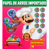 Fototortas Papel De Arroz Comestible A4 X 100 + 100 Bolsas