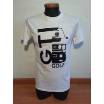 Playera Auto Golf, Talla Mediana Color Blanco