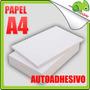 Papel Autoadhesivo Hoja Para Impresoras Blanco A4 Ciento