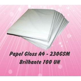 Papel Fotográfico Gloss 230g Brilhante A4 (100 Folhas)