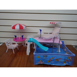 Set Gloria Barbie Piscina Con Tobogan