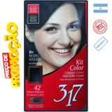Tintur Tonalizante Pintar Cabel Kit Color Preto Azulado 0.11