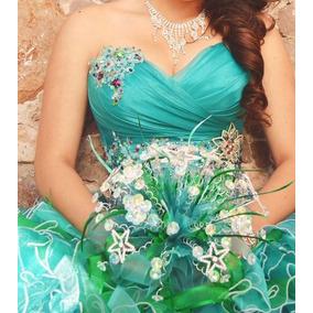 Vestido De Xv Color Jade Eos Cordero