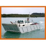 Lancha Balsa Em Aluminio Naval Carga E Passageiros