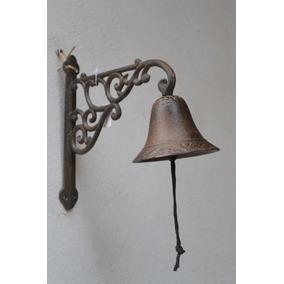 Llamador Campana C/soporte Ménsula Fundición Estilo Antiguo