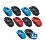 Pack 10 Mouse Usb Optico Genius Dx150 3 Botones Alambrico