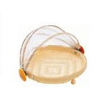 Porta Bolo / Pão Em Bambu Com Protetor Retrátil 30 Cm