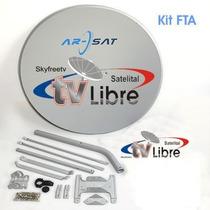 Antena Satelital 1m Arsat Fta Skyfreetv