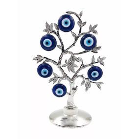 Enfeite Árvore Olho Grego Decoração 23cm Amuleto Tira Inveja