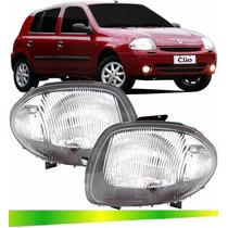 Farol Renault Clio Hatch Sedan Foco Simples 2000 2001 2002