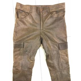Pantalon Cargo Hombre Cuero Genuino - Maybe -