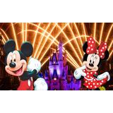 Mega Banner Painel Decoração 2,40 X 1,50 Mickey E Minie