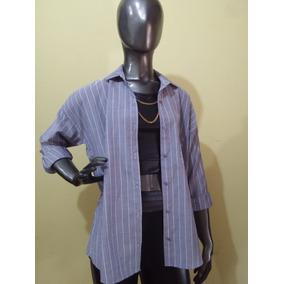 Camisa Largas Rayada Camel - Amplia - St. Marie