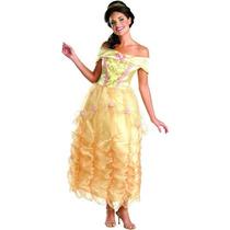 Disfraz Talla Mediana Bella De Lujo Vestido Mujer Adulto