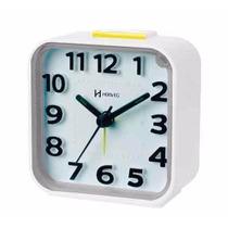 Relógio Despertador Quartz Luz Herweg 2706 021 Branco