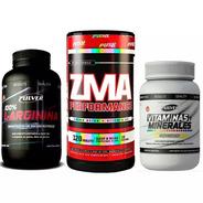 Zma Push X 120 Testosterona Zinc Magnesio + Vasodilatador Arginina Oxido Nítrico + Vitaminas Y Minerales Pulver