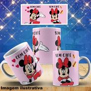 Caneca Personalizada Mickey Minnie Tema Com Café Sem Café