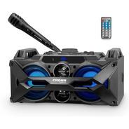 Parlante Portatil Crown Mustang 100w Microfono Cyber Monday