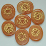 Set De 7 Piedras Simbolos De Chakras Labrados