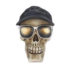 Caveira Decorativa Oculos E Bone