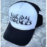 Boné Suicidal Tendencies Estilo Trucker Tela Top Aba Curva