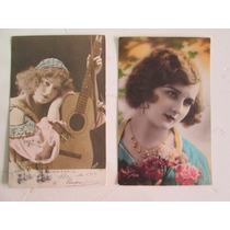 Postales Antiguas Originales Hermosas Mujeres