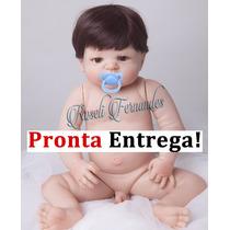 Pronta Entrega Bebe Reborn Menino Silicone Grande Boneca