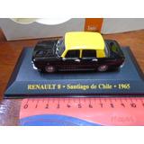 Ixo Model 1/43 Renault 8 Taxi Santiago De Chile Impecable