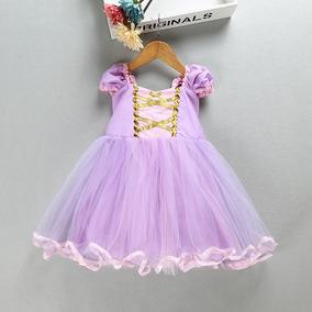 Vestido Rapunzel Enredados Disfraz Niña+corona Lollipop Kids