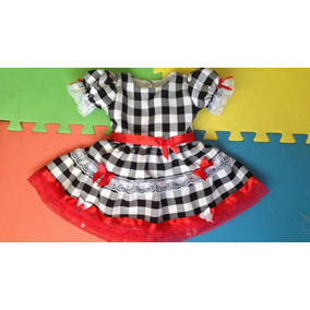 Vestido De Festa Junina Infantil Roupa Caipira Quadrilha