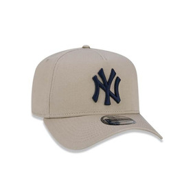 Boné New Era Aba Curva A-frame New York Yankees Bege - Sn.. a040ecf1347cb