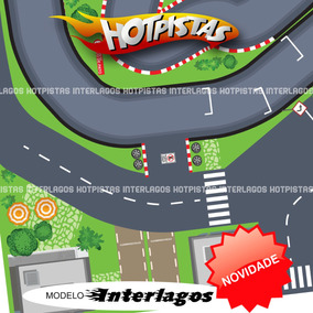 Pista Carrinho Hot Wheels Similar - Interlagos 1x1m