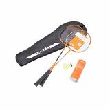 Kit Badminton Vollo Com 2 Raquetes E 3 Petecas