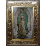 Cuadro Virgen De Guadalupe 120x90 Marco En Hoja De Oro
