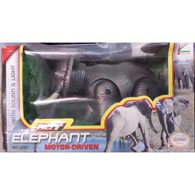 Brinquedo Para Aniversário - Elefante 3d Anda Som Luz Pilha
