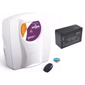 Kit Central Alarme Genno Slim 3 Setor C/1 Controle E Bateria