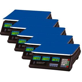 Kit 5 Balança Eletrônica Digital 40kg Bivolt Alta Precisão