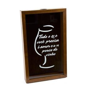 Quadro Porta Rolha De Vinho De Madeira Naturals Tudo O Que V
