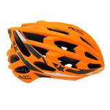 Casco Para Bicicleta Mtb Pro 33 Hoyos Cooling Sistem Naranjo