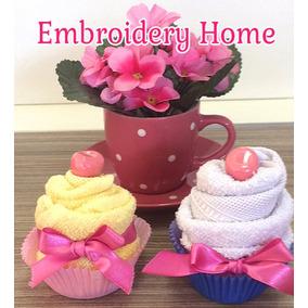 Lembrancinha Cupcake De Toalha (10 Unidades)