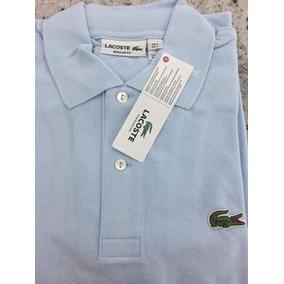 Camisa Lacoste Cor Principal Azul Claro - Camisa Pólo Manga Curta ... 3ea605c19f