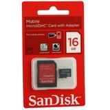 Cartão De Memória Sandisk 16gb Para Motorola Iron Rock Xt626